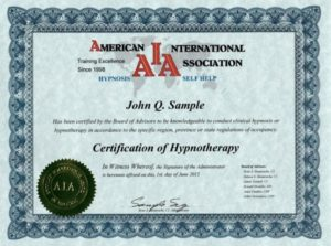 Hypnosis Training School - Certified Home Study Course
